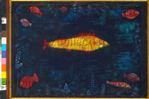Klee, Paul. Der goldene Fisch (Le poisson doré). 1925. Peinture. Hambourg, Kunsthalle.