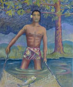 Thayaht (Ernesto Michahelles). Pêcheur. 1940. Peinture. Collection Pier Carioggia.