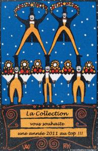 Kalvach, Rudolf. Carte de bonnes fêtes. 1907. Gravure. Collection particulière.