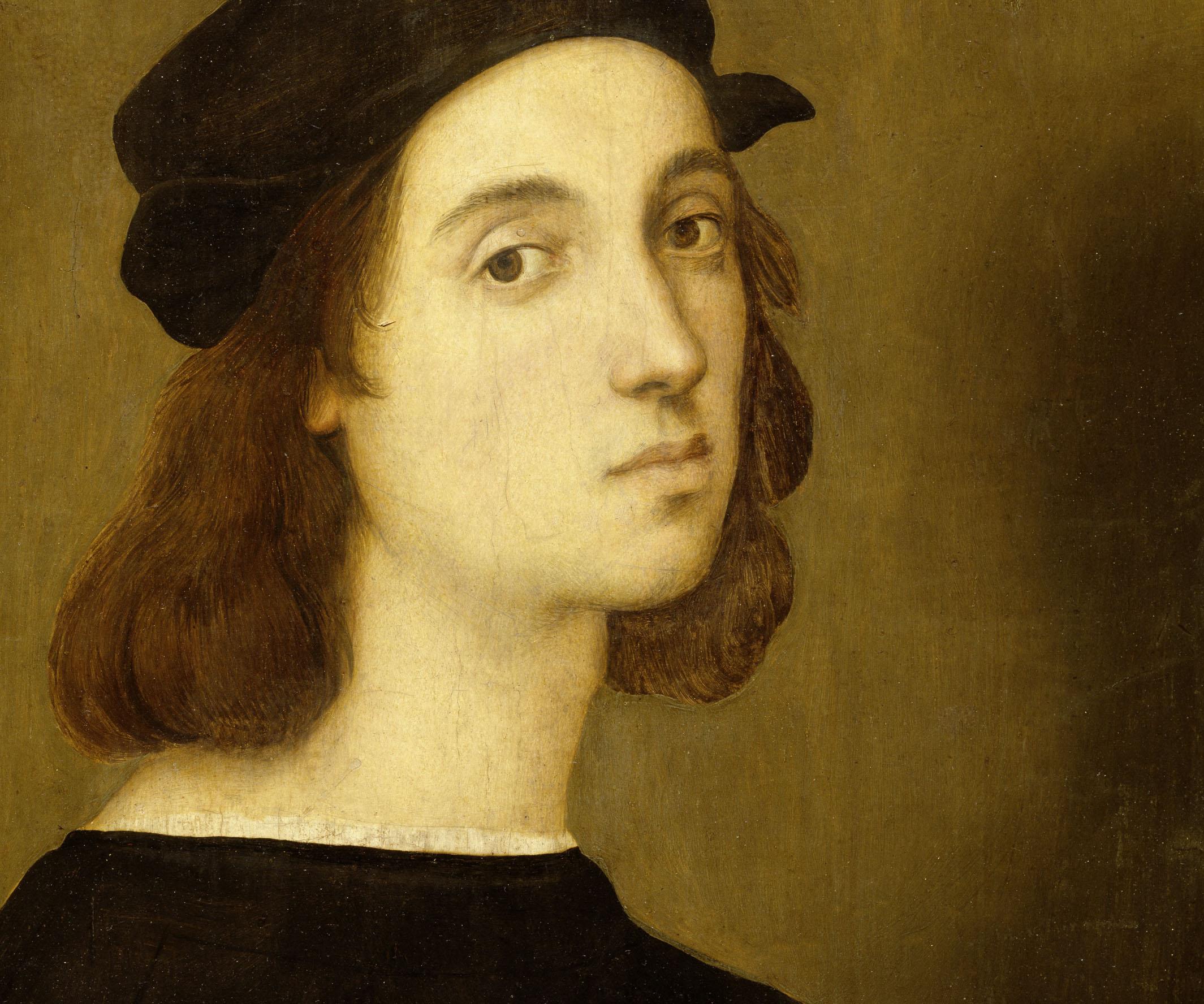 Raphaël. Autoportrait. Vers 1506. Peinture. Florence. Musée des Offices.