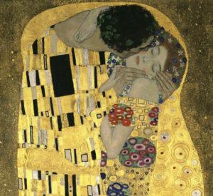 Klimt, Gustav. Der Kuss (Le Baiser). 1907-1908. Peinture. Vienne, Österreichische Galerie Belvedere.