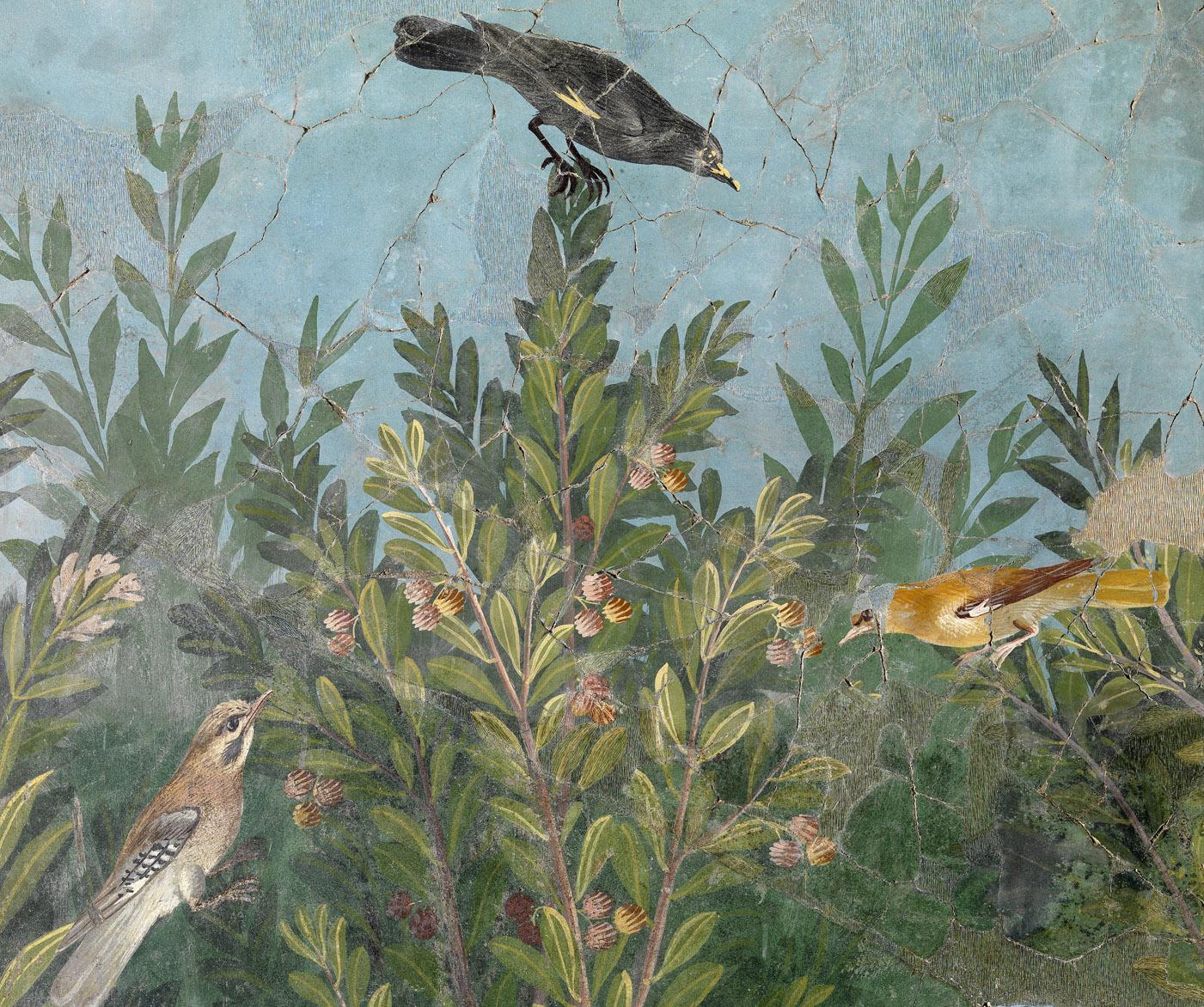 Art romain. IIIe style pompéien. Oecus 32. Paroi Est. Peinture. Boscoreale, Antiquarium Nazionale, deposito.