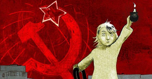 """""""Prénom : Inna, une enfance ukrainienne."""" T. 1. Thomas Azuélos (ill.). Inna Shechenko & Simon Rochepeau (Récit). Ed. Futuropolis 2020, couverture et titre."""