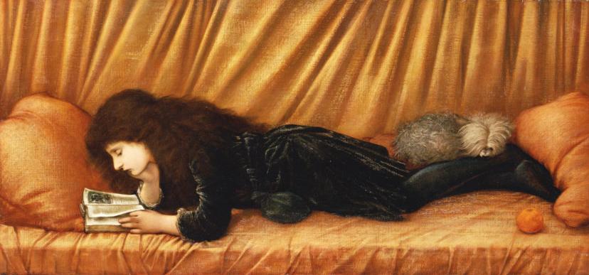 Burne-Jones, Sir Edward. Portrait de Katie Lewis. 1886. Peinture. Collection particulière.