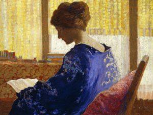 Nahl, Perham Wilhelm. Silhouette. 1921. Peinture. Collection particulière.
