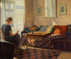 Panitzsch, Robert. Lecture près de la fenêtre. 1933. Peinture. Collection particulière.