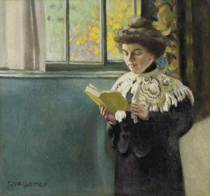 Vallotton, Félix. Lecture à la fenêtre. 1904. Peinture. Collection particulière.