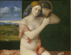 Bellini, Giovanni. Jeune femme à sa toilette. 1515. Peinture. Vienne. Kunsthistorisches Museum. Gemäldegalerie.