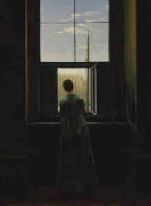 Friedrich, Caspar David. Femme à la fenêtre. 1822. Peinture. Berlin. Alte Nationalgalerie.