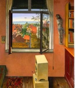 Wacker, Rudolph. La fenêtre. 1931. Peinture. Bregenz. Vorarlberger Landesmuseum.