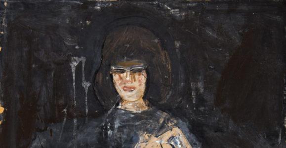 Jousselin, François. La dame. 1960-1969. Peinture. Collection particulière.