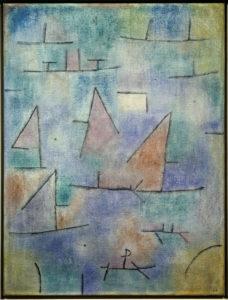 Klee, Paul. Port et voiliers. 1937. Peinture. Paris, Musée national d'Art moderne.