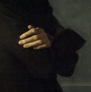 Karl Lehmann. Portrait de Franz Liszt. Détail. 1939. Peinture. Paris, Musée Carnavalet.