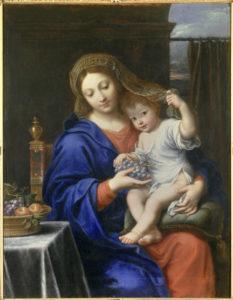 Pierre Mignard. La Vierge à la grappe. 1640. Peinture. Paris, Musée du Louvre.