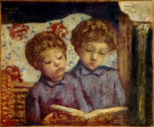 Pierre Bonnard. Les enfants Jean et Charles Terrasse. Peinture. Collection particulière.
