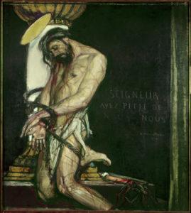 Georges Desvallieres. Christ à la colonne. Peinture. Paris, Musée d'Art Moderne de la Ville de Paris.