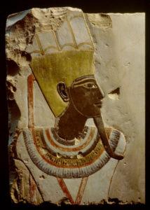 Art Egyptien. Le dieu Amon - Min. 1490-1436 avant JC. Sculpture. Louxor, Musée d'Art égyptien.