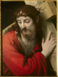Solario, Andrea. Le Christ portant sa croix. Vers 1505-1510. Peinture. Nantes, Musée des Beaux-Arts
