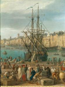 Joseph Vernet. Le déchargement des marchandises. 1754. Peinture. Paris, Musée de la Marine.