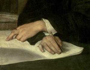 Franz Xaver Winterhalter. Portrait de Karl Berckmuller. Détail. 1830. Peinture. Amiens, Musée de Picardie.