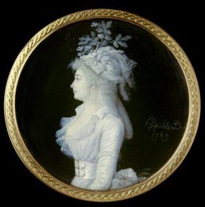 Hipolite. Portrait de femme. 1789. Minature. Paris, Musée du Louvre.