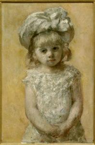 Mary Cassatt. Portrait de fillette ou La Robe de dentelle. 1879. Peinture. Bordeaux, Musée des Beaux-Arts.