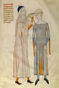 Liber notabilium Philippi septimi francorum regis, a libris Galieni extractus. Médecin découpant la boite crânienne d un malade. Vers 1345. Miniature. Chantilly, Musée Condé.