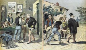 Henri Meyer. Caricature sur les élections. 1893. Imprimé. Collection particulière.