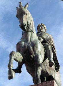 Corse. Ajaccio. Napoléon et ses quatre frères. Détai. 1865. Sculpture.