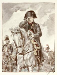 """Job """"Portrait de l'empereur Napoléon Ier à cheval"""" / Collection particulière"""