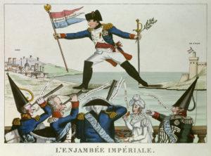 Napoleon Ier s'enfuit de l'ile d'Elbe. 1815. Gravure. Paris, Musée Carnavalet.