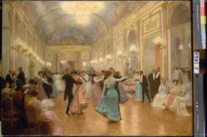 Victor Gabriel Gilbert. Scène de bal. Fin XIXe-début XXe siècle. Peinture. Collection particulière.