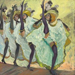 Jean-Gabriel Domergue. Les danseuses de french cancan. XXe siècle. Peinture. Collection particulière.