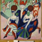 Ernst Ludwig Kirchner. Danseurs masqués. 1911. Peinture. Munich, Pinakothek der Moderne.