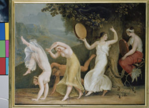 Johann Heinrich Wilhelm Tischbein. Danse de Ménades. Fin XVIIIe-Début XIXe siècle. Peinture. Oldenburg. Landesmuseum.