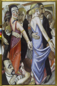 "Max Beckmann. Tanzbar in Baden-Baden (""Café dansant à Baden-Baden""). 1923. Peinture. Munich, Pinakothek der Moderne."