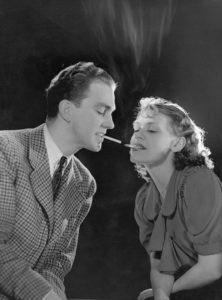 Anonyme. Couple de fumeurs. Vers 1920-1930. Photographie. Collection particulière.