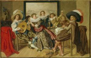 Dirck Hals. Réunion galante. XVIIe siècle. Peinture. Paris, Musée du Louvre.