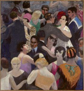 Jules Flandrin. Le bal Bullier. 1931. Peinture. Grenoble, Musée des Beaux-Arts.