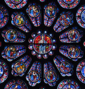 Art France - Vitrail de la cathedrale de chartres