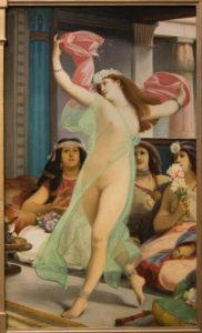 Jean Jules Antoine Lecomte du Noüy. Danseuse orientale dans un harem. Vers 1885-1886. Peinture. Paris, Musée d'Orsay.