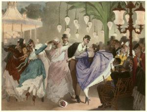 Philippe Jacques Linder. Le bal Mabille. 1867. Paris, Musée Carnavalet.