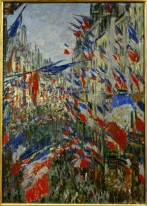 Claude Monet. Rue Saint-Denis, fête du 30 juin 1878. Peinture. Rouen, Musée des Beaux-Arts.