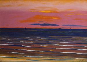 Spilliaert, Léon. Marine - Soir. 1923. Peinture. Collection particulière.