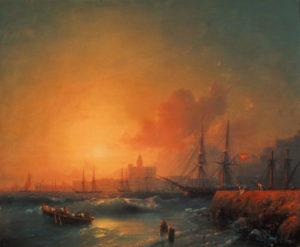 Aïvasovski, Ivan Konstantinovich. Malaga. 1854. Peinture. Theodosie. Galerie Aïvasovski.