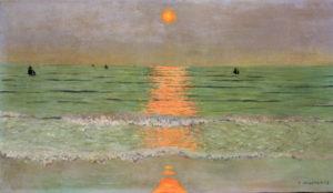 Vallotton, Félix. Coucher de soleil. 1913. Peinture. Collection particulière.