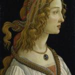 Botticelli, Sandro. Portrait d'une jeune femme (sans doute Simonetta Vespucci). Vers 1480. Peinture. Francfort/Main, Städel Museum.