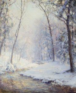 Palmer, Walter Launt. Neige précoce. Fin XIXe-début XXe siècle. Peinture. Collection particulière.