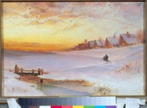 Sawrassow, Alexei. Crépuscule en hiver. XIXe siècle. Peinture. Ivanovo, Musée d'Art.