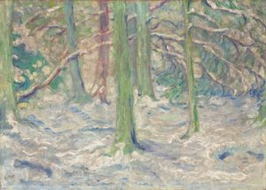Marc, Franz. Verschneiter Wald. 1909. Peinture. Collection particulière